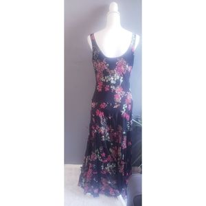 JONES NEW YORK BLACK FLORAL DRESS SIZE 12